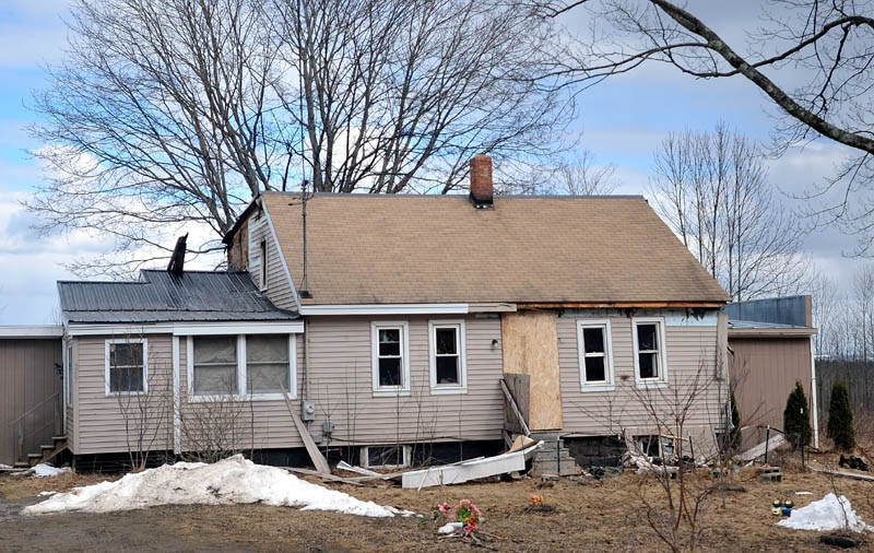 A home at 257 Hill Road in Clinton was damaged by fire on Sunday.