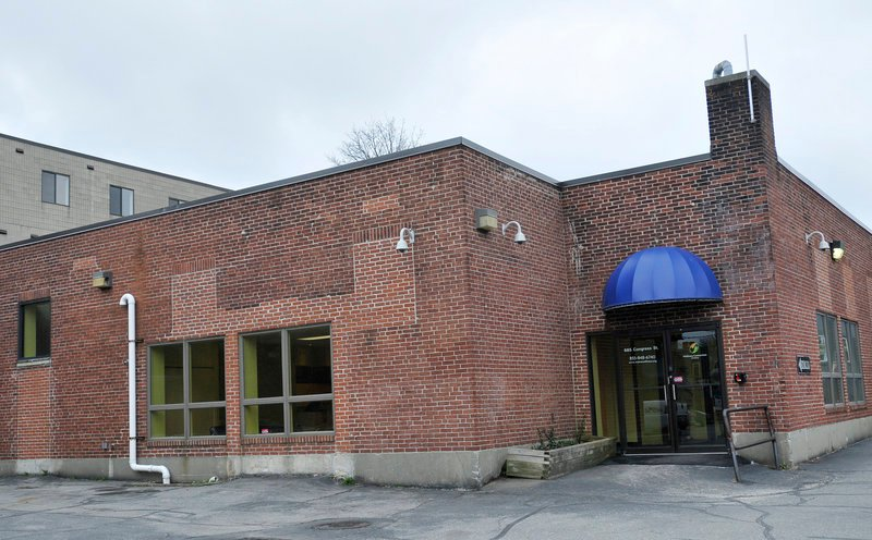 (FILE) Wellness Connection of Maine's Portland marijuana dispensary, located at the end of an alley off Congress Street behind the Local 188 restaurant. Photographed March 29, 2012.`