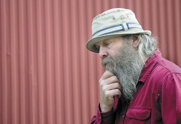 Robert Milliken talks about former neighbor Christopher Knight on Wednesday during an interview at Milliken's Albion farm.