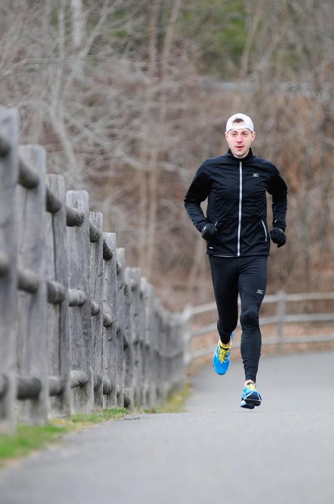 READY TO GO: Seth Hasty will run in his second Boston Marathon on Monday. Hasty ran in the marathon in 2011.