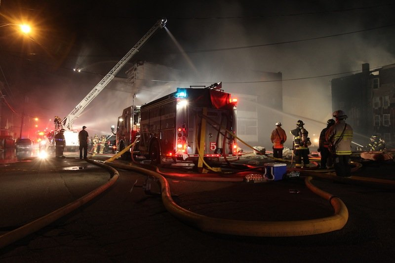 The fire broke out late Friday night and kept firefighters at work for hours into Saturday morning.