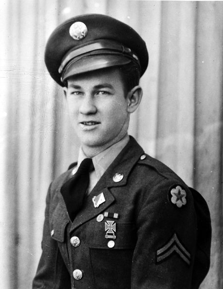This 1943 photo of Henry Breton, of Manchester, shows him before he served in World War II in Europe.