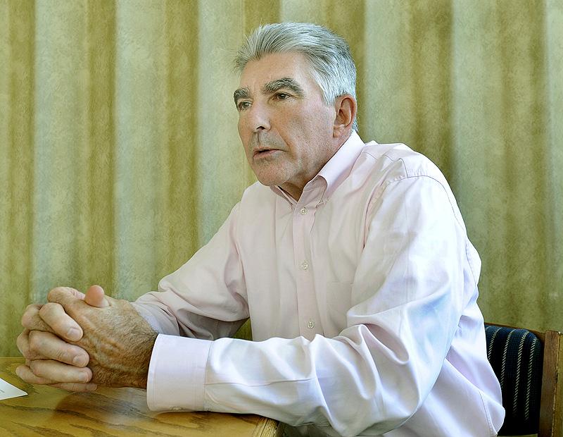 Tom Brigham, co-president of Oakhurst Dairy in Portland, gets