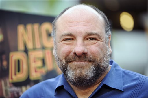 James Gandolfini attends the L.A. premiere of