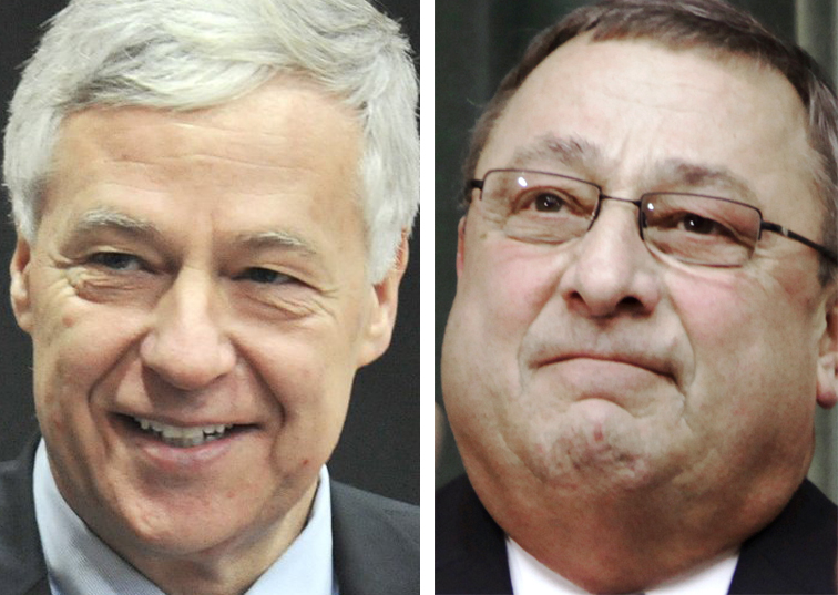 Democratic U.S. Rep. Mike Michaud, 2nd District, left, last week launched an exploratory committee for a gubernatorial run, sparking interest by Republican Gov. Paul LePage in a potential run for Michaud's congressional seat.