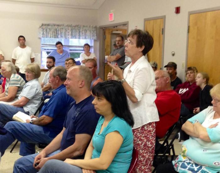 Marjorie Goodwin speaks at Tuesday's Clinton selectmen meeting.