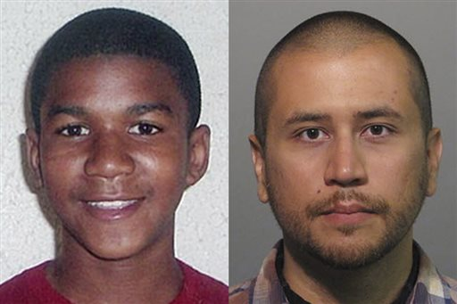 This combo image made from file photos shows Trayvon Martin, left, and George Zimmerman. Jurors tonight found Zimmerman not guilty of second-degree murder in the fatal shooting of 17-year-old Martin in Sanford, Fla. The six-member, all-woman jury deliberated for more than 15 hours over two days before reaching their decision.