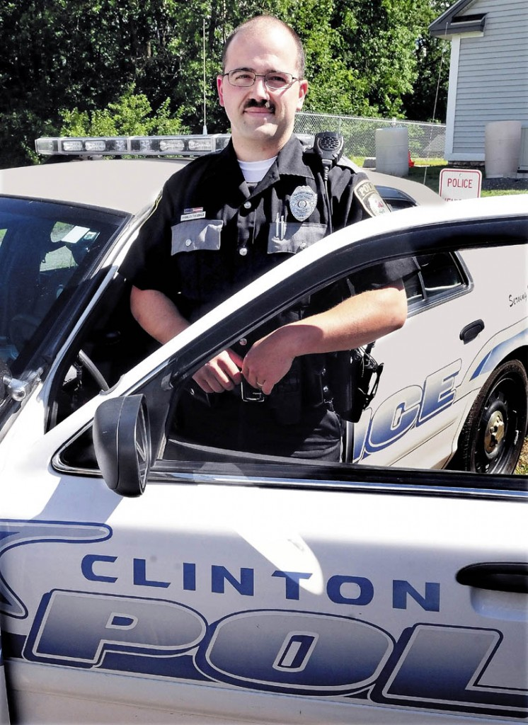 Police officer Charles Theobald recently was hired by the Clinton police department.