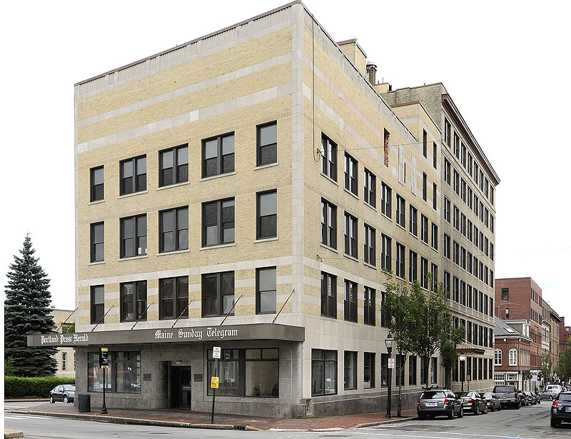 The former Portland Press Herald building at 390 Congress St. is located in Portland's Congress Street Historic District.