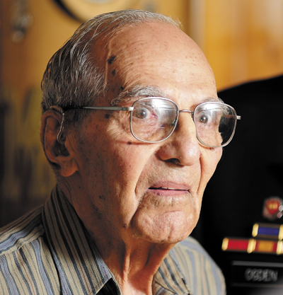 World War II veteran Al Kramer, of South China, received a Congressional commendation on Thursday from Rep. Mike Michaud in Augusta.