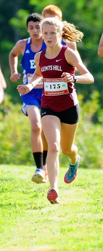 Kents Hill runner Anne McKee, of Hallowell, runs on Friday August 30, 2013 at the 14th annual Scot Laliberte Invitational at Cony High School in Augusta