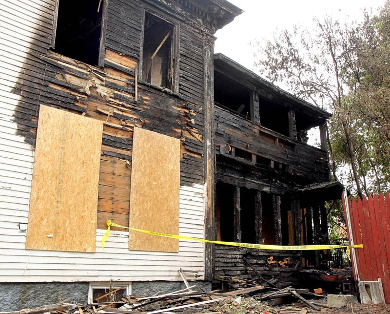 A fire Sunday caused extensive damage to a vacant single-family house at 5 Elm Court in Waterville.