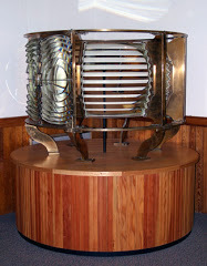 This lighthouse Fresnel lens, in operation from 1874 to 1994 at Two Light in Cape Elizabeth, will be delivered to Bath next week.