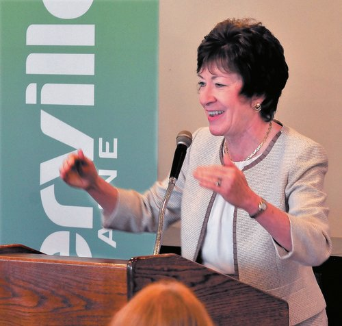 U.S. Sen. Susan Collins spoke about the proposal for military action against Syria during a speech in Waterville on Tuesday. Collins said a plan to launch missiles at Syrian military sites is extremely difficult and one that she will consider.