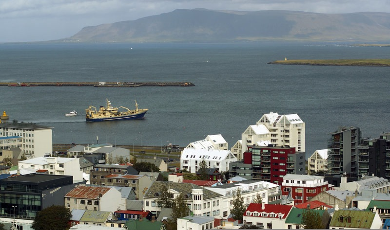 A view of Reykjavik, Iceland's largest city and the world's most northern capital, Saturday, Sept. 14. The city has 120,00 residents, and more than 200,000 people live in the Greater Reykjavik Area.