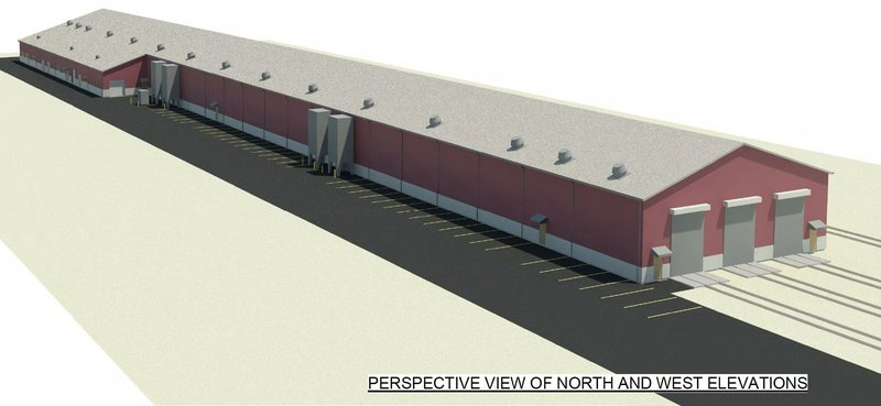 Amtrak's proposed facility in Brunswick, shown in a drawing from Consigli Construction of Portland, would allow an extra daily Downeaster run to and from Boston.