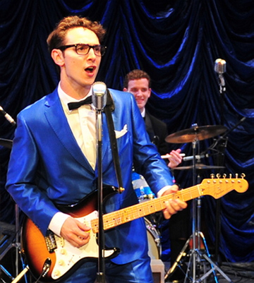 """Kurt Jenkins in the title role in the Ogunquit Playhouse production of """"Buddy: The Buddy Holly Story."""""""