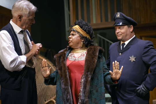 """Tom Bloom, Tina Fabrique and Corey Gagne in the Portland Stage Company production of """"Ma Rainey's Black Bottom."""""""