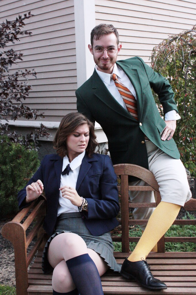 """Rylee Doiron as Olivia and Max Waszak as Malvolio in Theater at Monmouth's upcoming """"Twelfth Night"""" tour."""