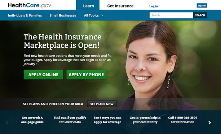 This is a screen image of the homepage for the HealthCare.gov website. The flood of computer problems since the website went online has been deeply embarrassing for the White House.