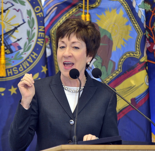 Sen. Susan Collins was joined by 13 who nudged fellow lawmakers to find a compromise to end the shutdown.