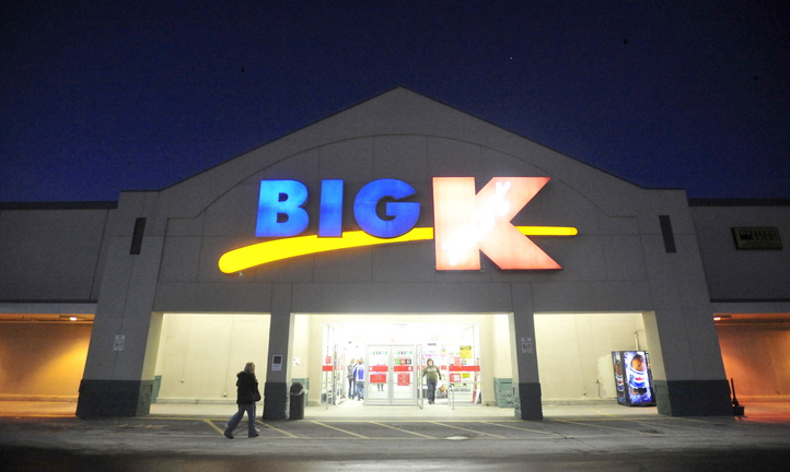 BLACK FRIDAY: Shoppers file into Kmart at Elm Street Plaza on upper Main Street in Waterville on Friday morning for Black Friday deals. Kmart opened its doors at midnight.
