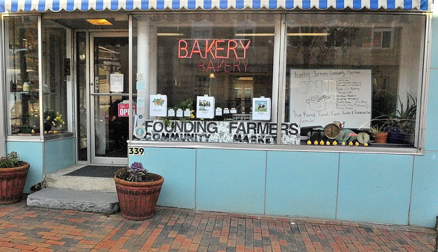 Local food: The former Blue Sky Bakery on Water Street is the site of the new Founding Farmers Community Market in Gardiner.