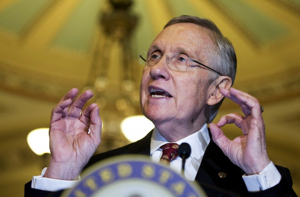"Senate Majority Leader Harry Reid of Nevada said, ""The need for change is obvious"" while shepherding through a vote to change the filibuster rules."