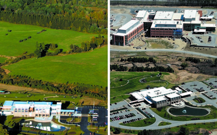 Nearly done: Left, a September 2007 file photo shows MaineGeneral Medical Center's Harold Alfond Center for Cancer Care in Augusta. Right, the new regional hospital is shown, in the background. Below, one of seven operating rooms is shown during a tour May 7, 2013.