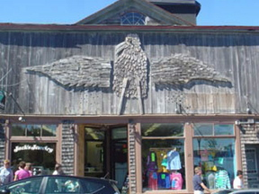 AT Home: Bernard Langlais sea gull will soon return to the Bar Harbor storefront where it has been for decades.