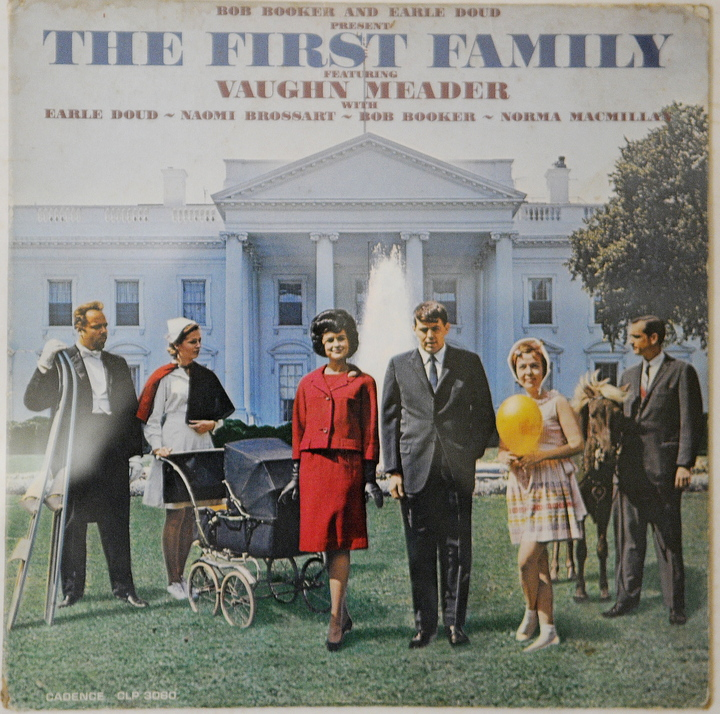 """KENNEDY IMPERSONATOR: Abbott Vaughn Meader's most famous comedy album, """"The First Family"""" in 1962."""