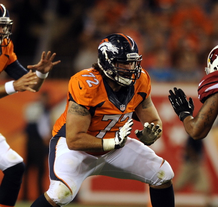 2013 Associated Press File Photo Denver Broncos guard John Moffitt says he quit the NFL this week not because he was unhappy with a lack of playing time in Denver but because he'd lost his love for the game and was tired of risking his health.