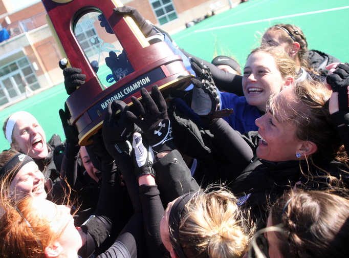 For the fourth time in seven years, members of the Bowdoin College field hockey team can call themselves national champions. The Polar Bears capped their run with a record-setting defensive performance in Sunday's championship against Salisbury State in Norfolk, Va.