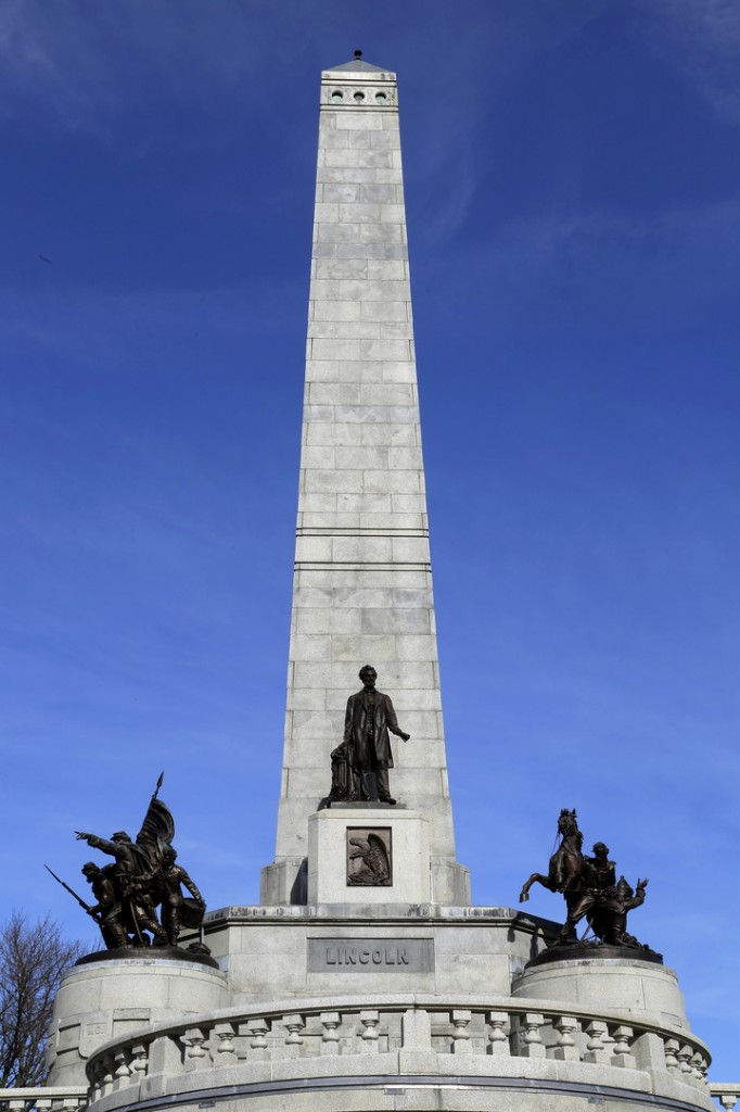 The Tomb of Abraham Lincoln is seen Tuesday, Nov. 19, 2013, the 150th Anniversary of Lincoln's famous Gettysburg Address speech, in Springfield, Ill.