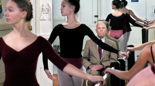 FOUNDER: Bossov Ballet Theatre student dancers rehearse as founder Michael Wyly watches in 2008 at Maine Central Institute in Pittsfield.