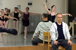 """REHEARSAL: Andrei Bossov during a rehearsal for """"The Nutcracker"""" in 2004."""