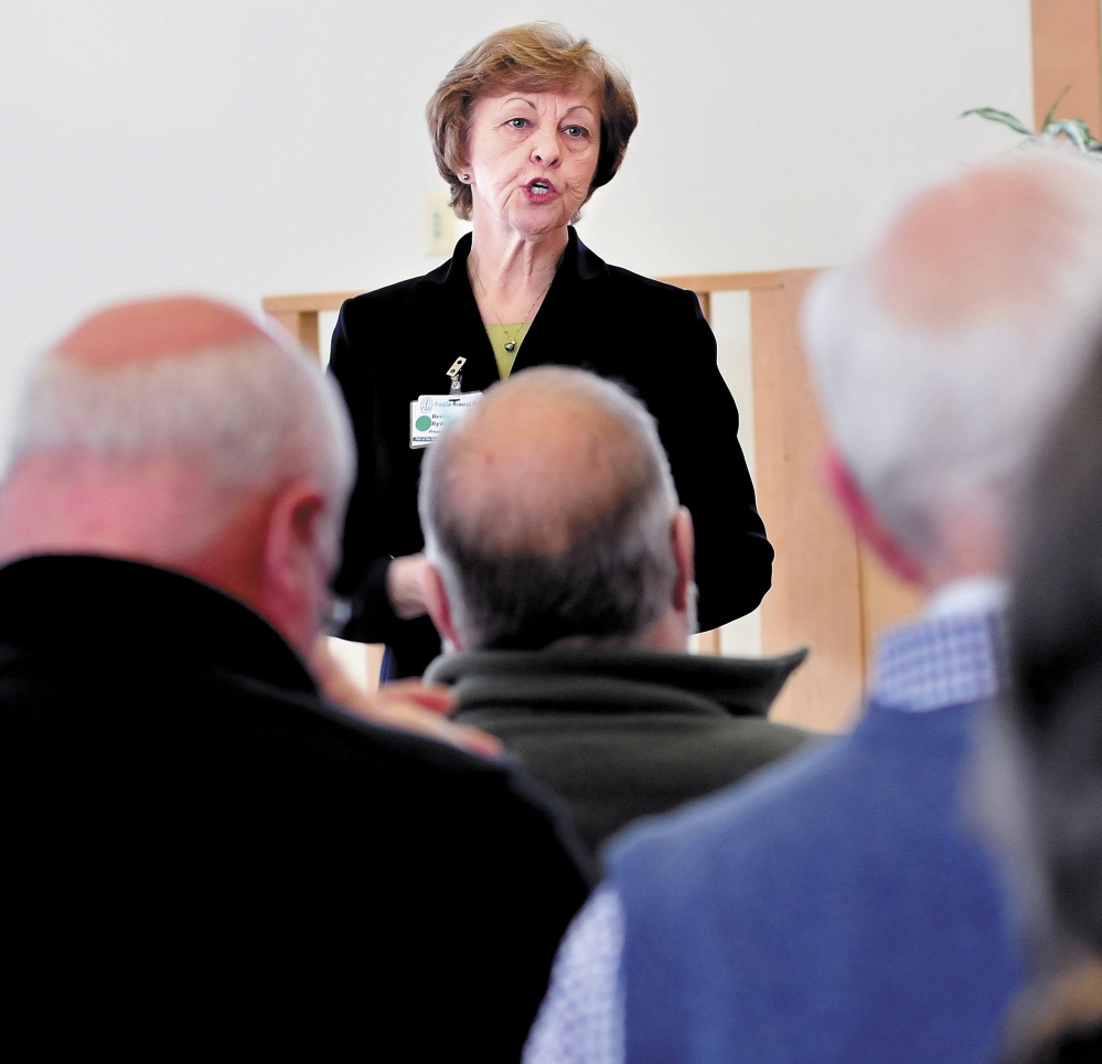 CHANGES: President and CEO of Franklin Memorial Hospital/Franklin Community Health Network, Rebecca Arsenault, in February.