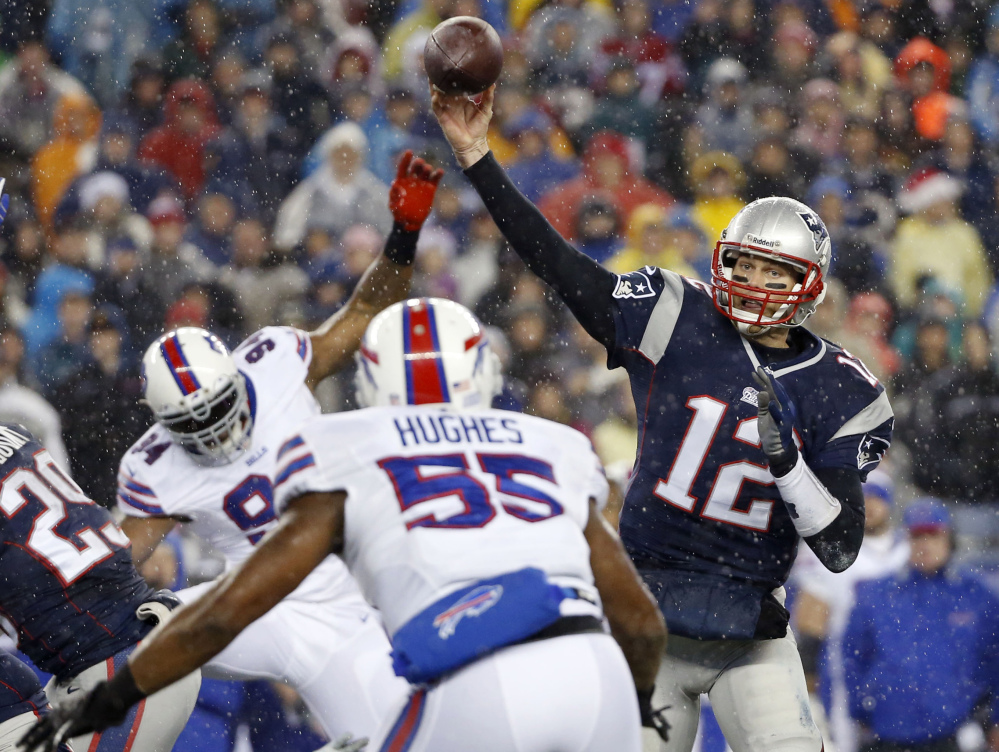 AP photo TAKE A BREAK: Tom Brady and the New England Patriots finished the regular season 12-4 and earned the No. 2 seed in the AFC, giving them a bye and the chance to rest up before their first playoff game.