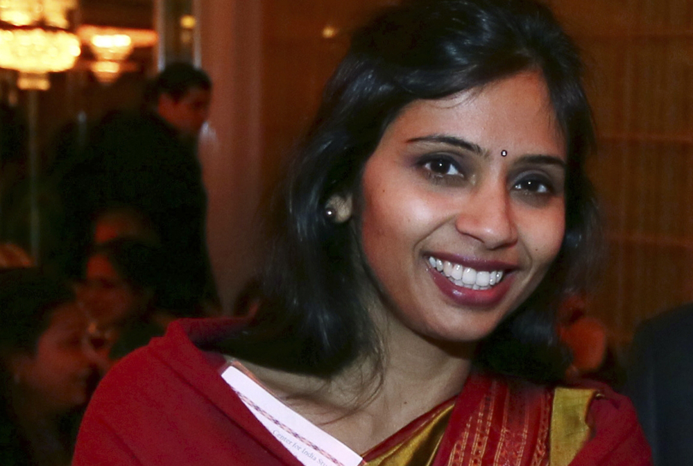 "Devyani Khobragade, who served as India's deputy consul general in New York, is shown in this Dec. 8, 2013 photo. The federal indictment paints a picture of Khobragade as a harsh employer who refused to allow her housekeeper to have vacation time or days off, even telling the woman ""not to get sick because it was expensive."""