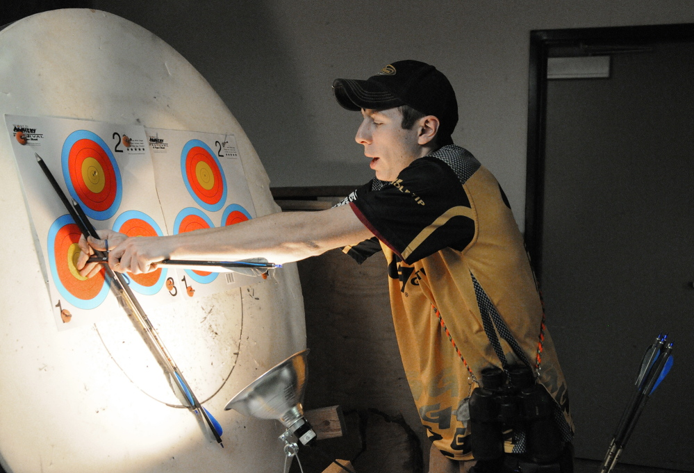 Archer Ace: Charlie Weinstein, 17, is the fifth-ranked outdoor shooter in his age group — 16 to 21— and first-ranked indoor shooter, according to USA Archery.