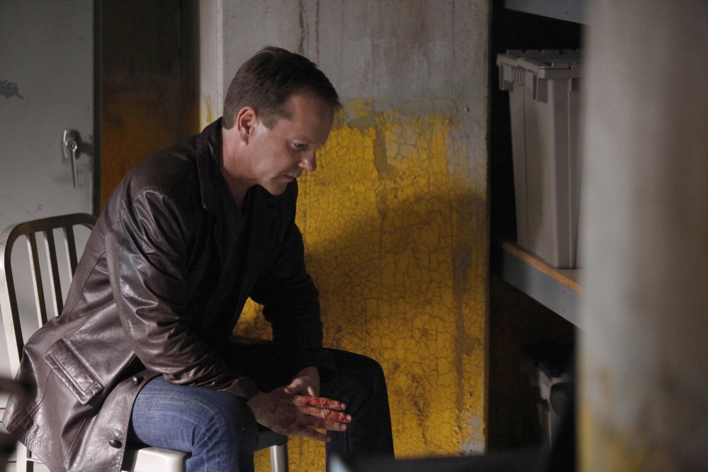"""Jack Bauer, portrayed by actor Kiefer Sutherland, is shown in a scene from the two-hour series finale of """"24"""" in 2010 on Fox. The series will return with 12 episodes."""