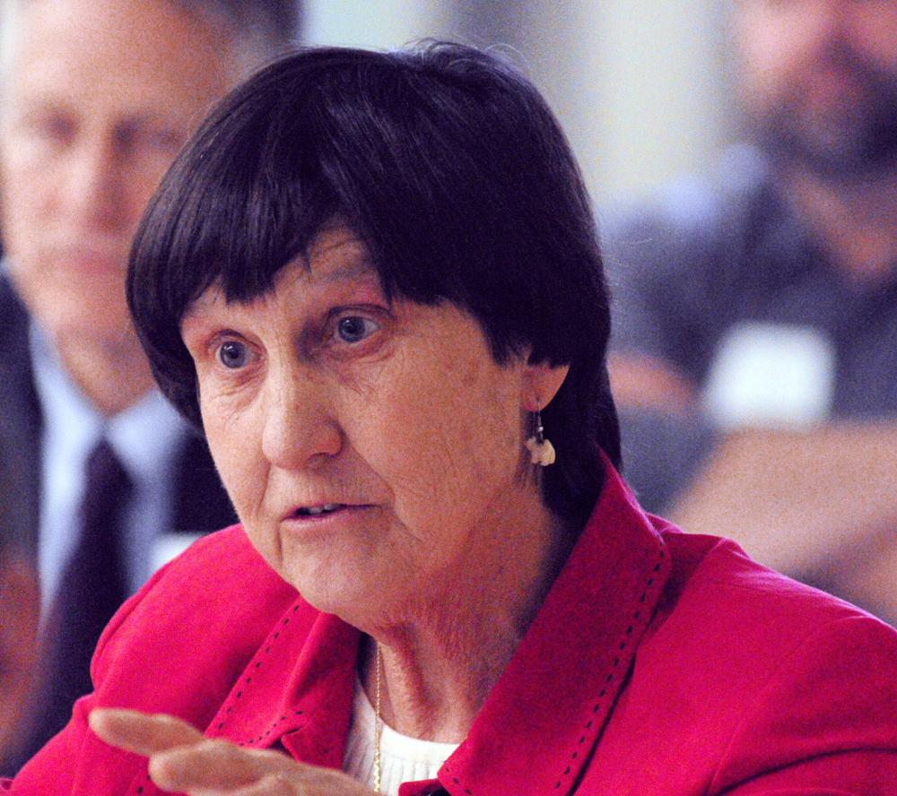 Author Joan MacCracken of Brooksville speaks Friday at the Maine Summit on Aging.