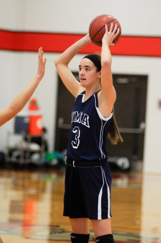 MAKING AN IMPACT: Richmond High School graduate Jamie Plummer is averaging 17.4 points and 11.4 rebounds per game for the University of Maine at Augusta women's basketball team.