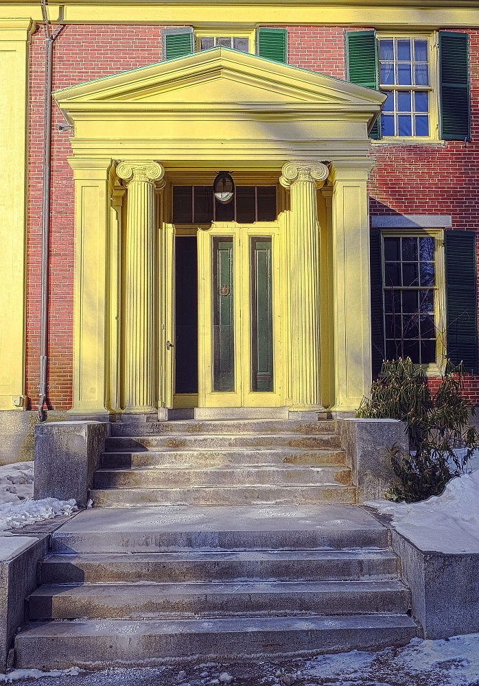 the front door of the Daniel Cony Weston House on Stone Street that's home to the Elsie & William Viles Foundation in Augusta on Thursday January 23, 2014.