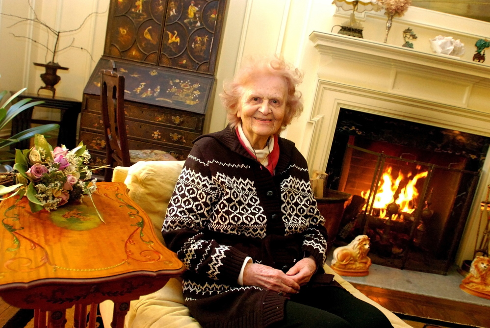 A CHEERFUL GIVER: Philanthropist Elsie Viles at her home in Augusta on Stone Street in 2007.