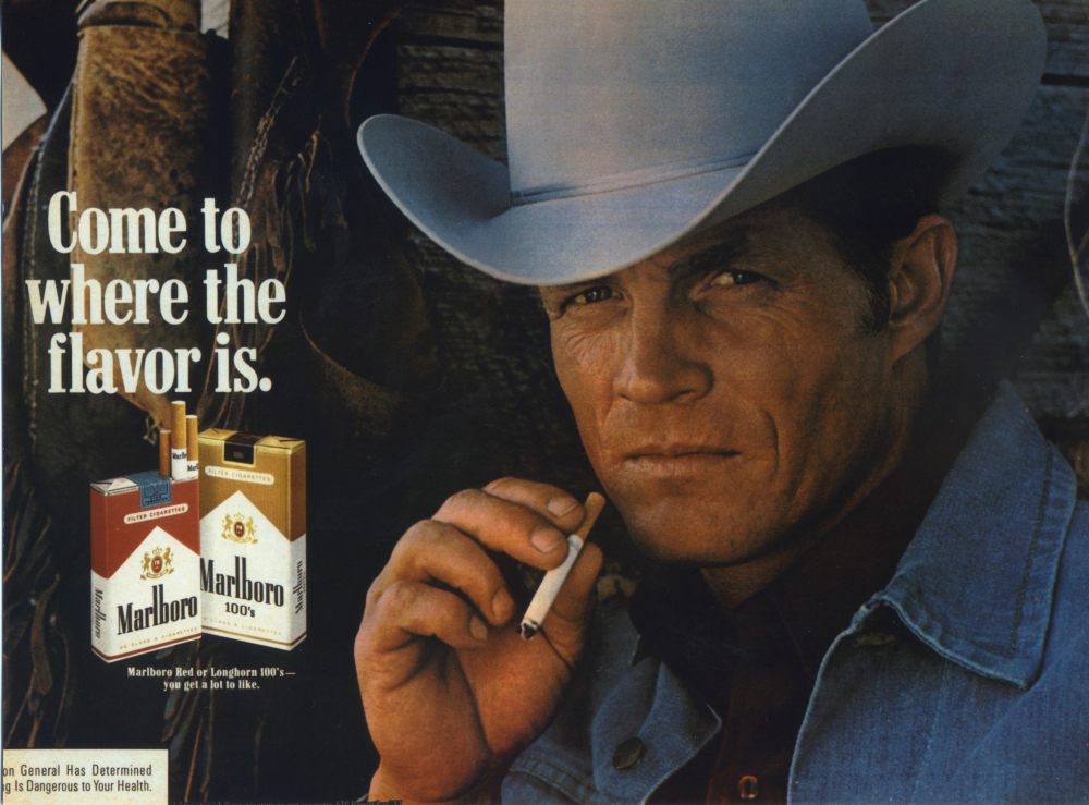 In this undated photo courtesy of Susan Lawson shows Eric Lawson. Lawson, who portrayed the rugged Marlboro man in cigarette ads during the late 1970s, has died. He was 72. Lawson died Jan. 10, 2014, at his home in San Luis Obispo, Calif., of respiratory failure due to chronic obstructive pulmonary disease, or COPD, his wife, Susan Lawson said Sunday, Jan. 26, 2014.