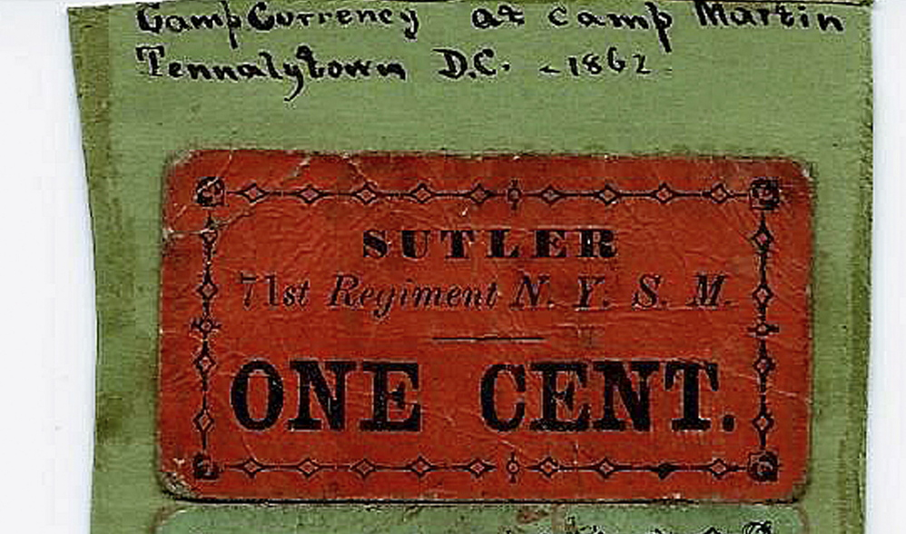 A concession pass from an 1862 baseball game the Washington Nationals and 71st Regiment of the New York Militia in Delaware is among auction items.
