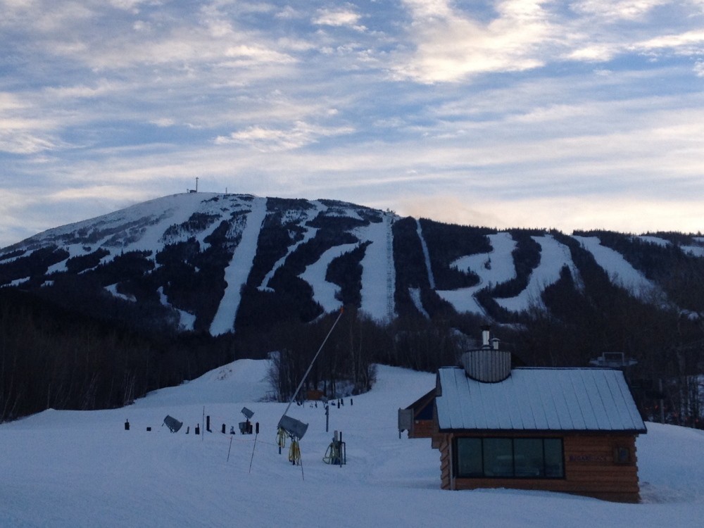 MOUNTAIN DEATH: Sugarloaf Mountain is seen Tuesday afternoon from the Base Lodge after a 21-year-old skier died earlier in the day.