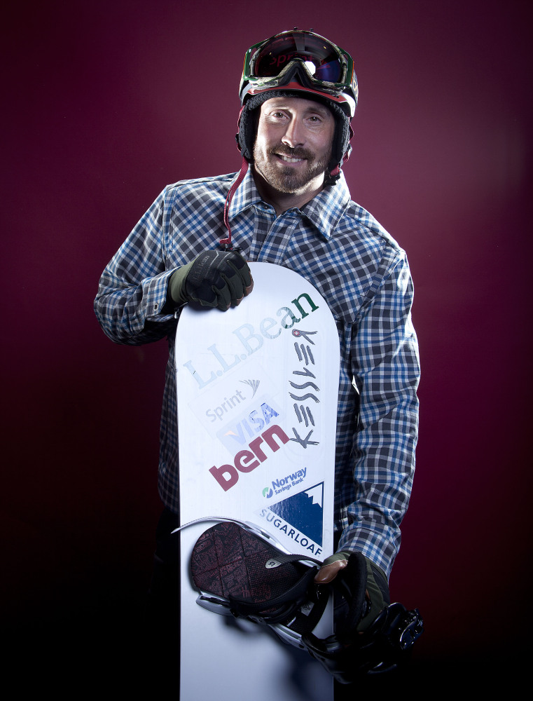 Seth Wescott, the two-time defending gold medalist in snowboardcross, poses for a portrait at the 2013 Team USA Media Summit in Park City, Utah. Wescott won't be going to Sochi for the 2014 Winter Olympics. Instead, he's cutting short his season to continue rehabilitation in hopes of making another Olympic run in four years.