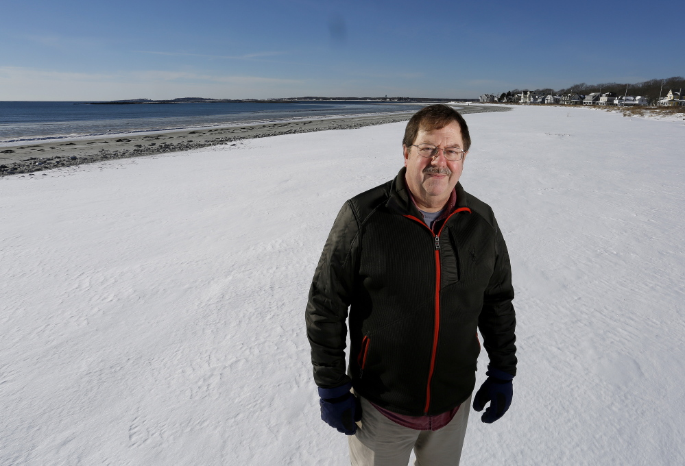 "Bob Scribner of Kennebunkport, a beachfront property owner, says, ""The public is welcome to use the beach. But they are going to use it with respect."""